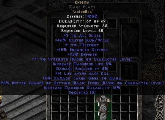 Przedmioty Diablo 2, Europa Nowy LADDER