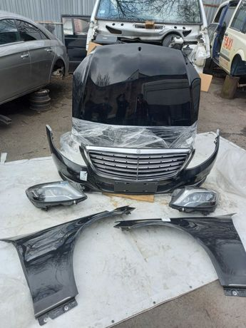 Морда Mercedes-Benz S-Class W222 Капот, Фары, Бампер, Крылья, Решетка