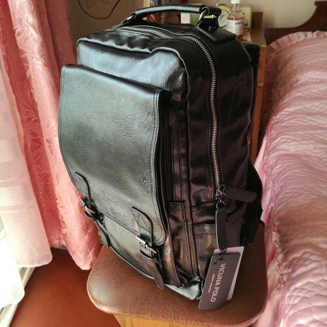 Чоловічий рюкзак POLO VICUNA чорний (KD-17382)