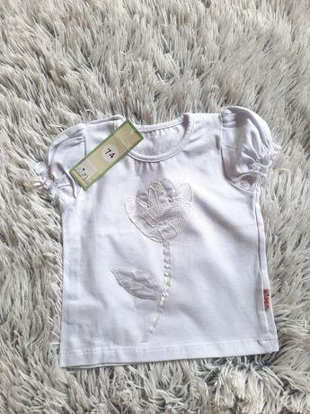 Nowa elegancka biała bluzka/ bluzeczka r.74