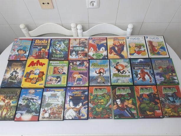 Filmes juvenis e de banda desenhada 24 DVD's
