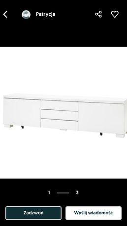 Szafka pod tv IKEA Besta Burs biała połysk