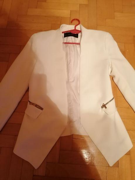 Zara biała marynarka 36