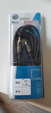 Kabel RCA/RCA Blyss gold czarny 3 m
