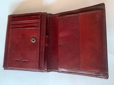 Skórzany portfel 100% wymiary 12,5/10 cm firmy BARTEX