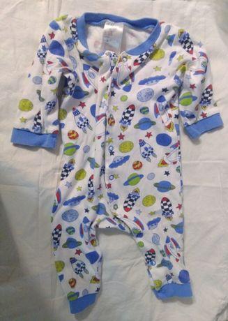 Бодик на кнопках на девочку 4-6 месяцев