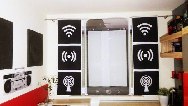 Firany zasłony dzieci młodzież 200x140 Smartfon kpl - BabyPlay