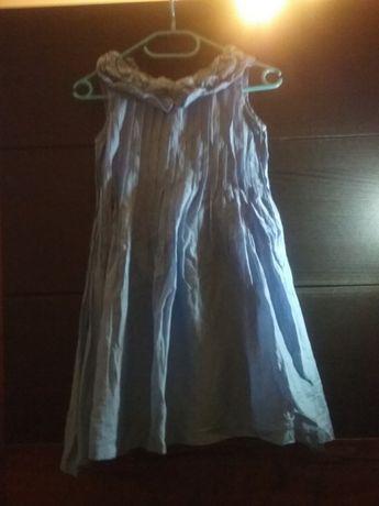 Niebieska sukienka firmy Wójcik rozmiar 134