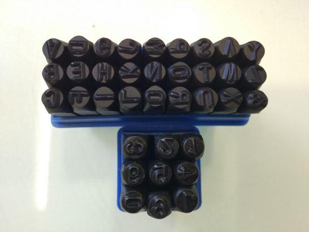 Numeratory, znaczniki 5mm do metalu cyfry i litery zestaw wybijaki