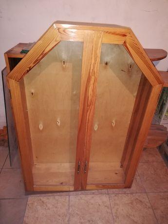 Witryna drewniana sosna