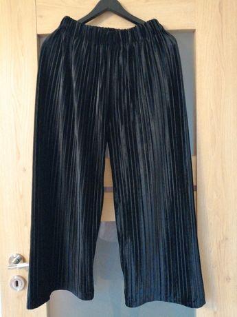 Nowe spodnie z metką - luźne z szerokimi nogawkami; mogą być ciążowe