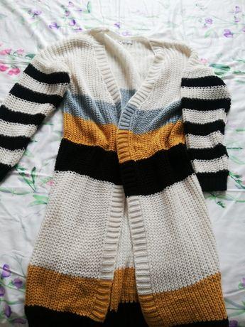 Nowy długi sweter, kardigan oversize S, M, L