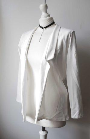 Nowa biała Marynarka Boohoo glamour retro