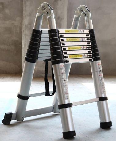 Складная телескопическая лестница 4м