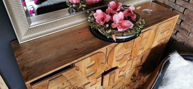 Komoda, loft, drewno akacjowe