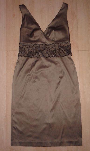 Sukienka 38 S damska (ślub, wesele, komunia, jubileusz) brązowa