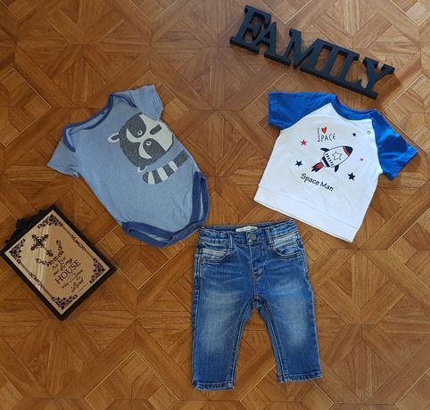 Набор на малыша 4-6 мес: Футболка GJ, боди Next и джинсы Zara