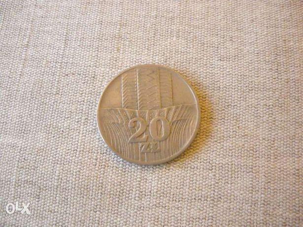 Moneta 20 zł z 1976r. Wieżowiec i Kłosy, PRL inne monety banknoty