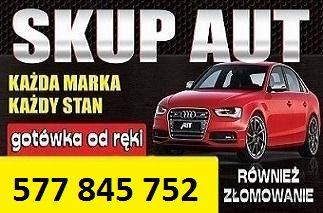 Skup samochodów za GOTÓWKĘ ! Złomowanie samochodów. Całe, powypadkowe
