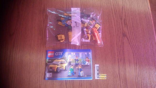 Lego city nowa sama taxi z 60050 rowerem i stojakiem na rower i5 minik