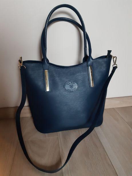 (Z wadą) skórzana włoska torba Vera Pelle