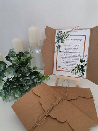 Zaproszenia ślubne, rustykalne zaproszenia