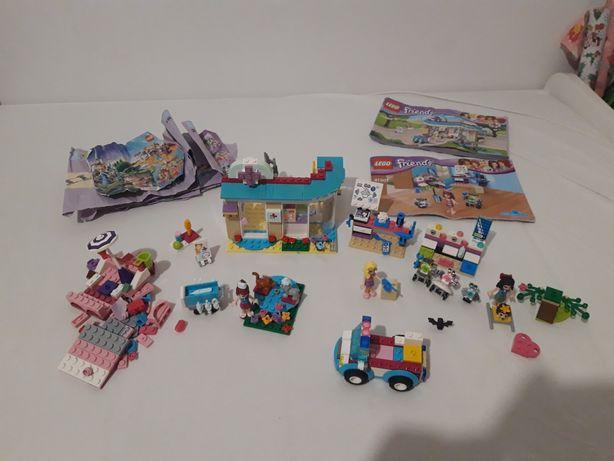 Klocki Lego Friends 41085 Lecznica 41307 Laboratorium samochód 41086