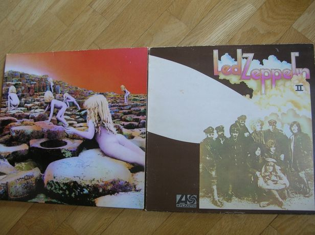 Dwie płyty winylowe 2 x LP Led Zeppelin II + Houses Of The Holly Plant