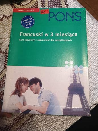 Francuski w 3 miesiące Pons książka i CD