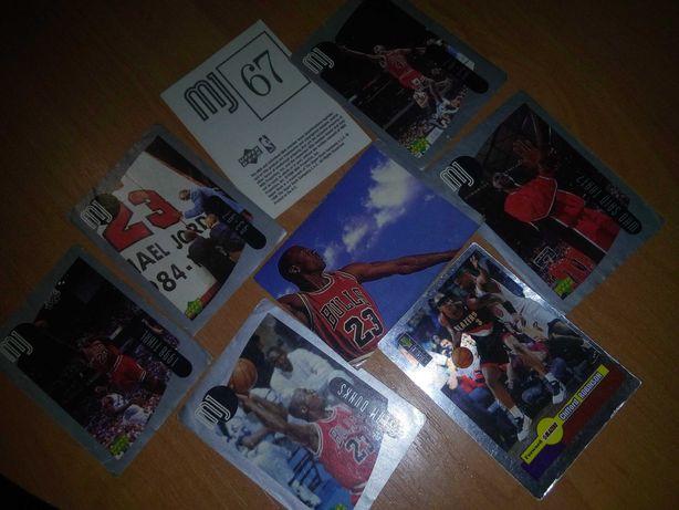 Баскетбол наклейки MJ Upper Deck