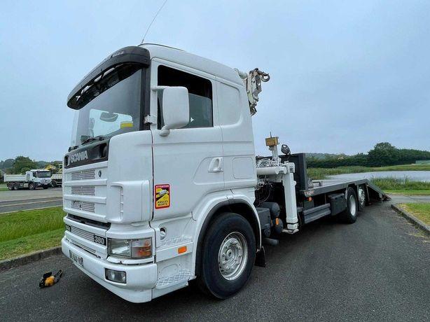 Scania Grua 30 Ton 170 mil km porta maquinas