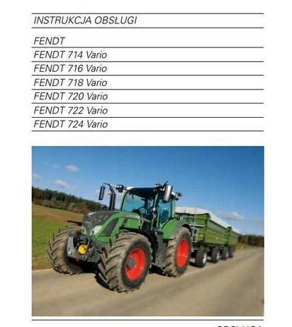 Instrukcja obsługi Fendt 714, 716, 718, 720, 722,724 Vario