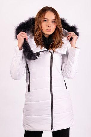 Куртка зимняя женская белая размер S AAA 135070M  В наличии
