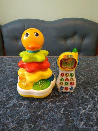 Детский музыкальный телефон телефон и пирамидка
