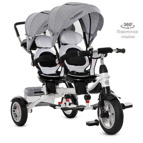 Велосипед для двойни близнят Turbo Trike M 3116TWA-19 надувные колеса