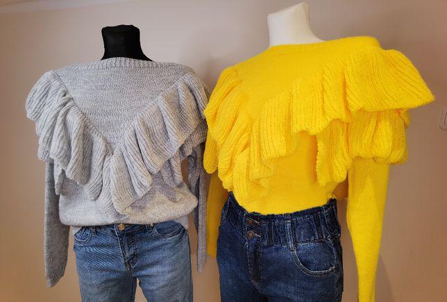 Sweter WAVE Zółty/szary/Grafit