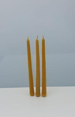 Świece do świecznika z wosku pszczelego świeca wosk pszczeli naturalne