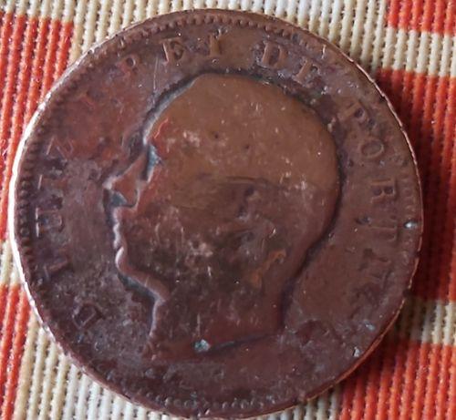 Moeda de D Luis I de1883em bronze