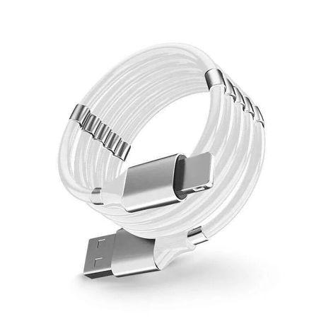 Kabel, magnetyczny kabel do ładowania typ C oraz iPhone