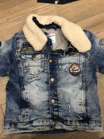 Джинсовая утепленная курточка mayoral 110