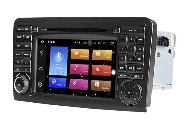 Radio Mercedes ML GL ANDROID 9 / 4GB DVD W164 X164 2DIN Navi PL 24H