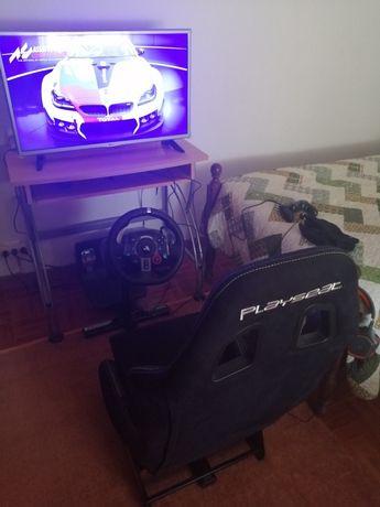 Playseat evolution pro com volante G29