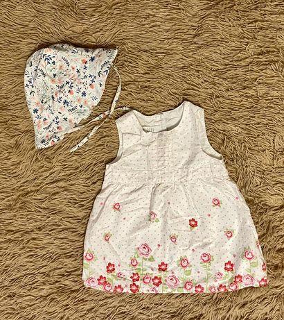 Платье H&M 6-9-12 месяцев