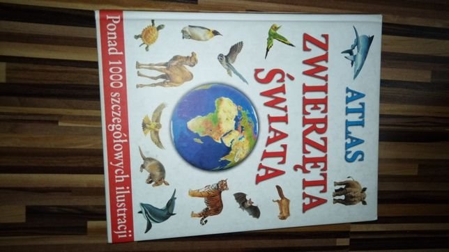Atlas zwierzęta świata twarda okładka