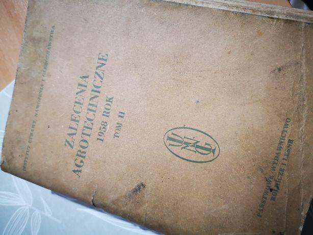 Książka kolekcjonerska Zlecenia Agrotechniczne 1958 rok