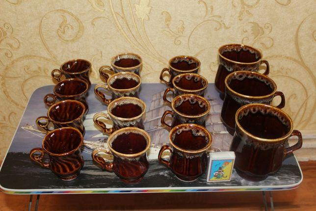 Чашки керамические из голубой глины