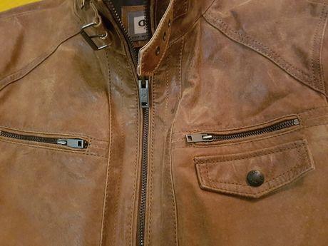 Кожаная куртка пилот massimo dutti donar