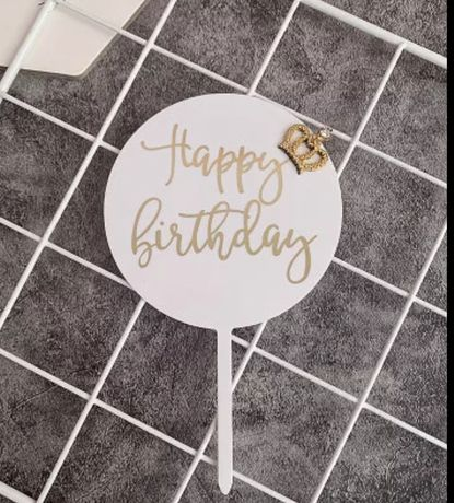 Topper na tort balonik