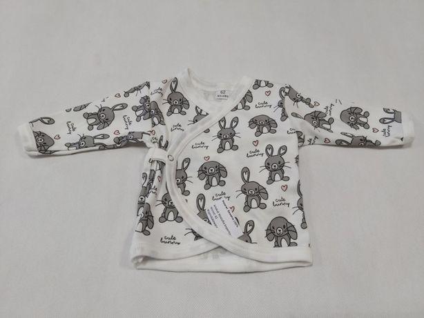 Nowa kopertowa koszulka ,kaftanik rozpinany 100% bawełny 56,62 0-3msc