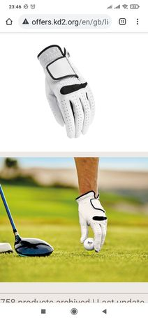 Crivit Golf Glove,перчатка для гольфа (нат.кожа) мужская,женская,р-S,M